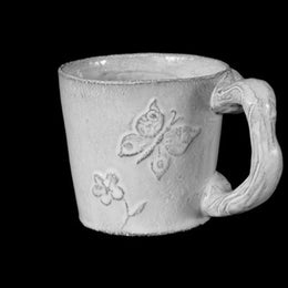 Fleurs Cup with Large Handle