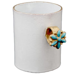 Serena Blue Flower Ring Cup