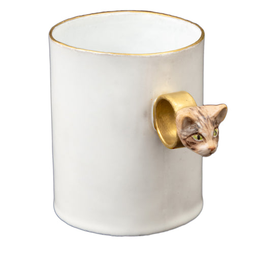 Serena Tabby Cat Ring Cup