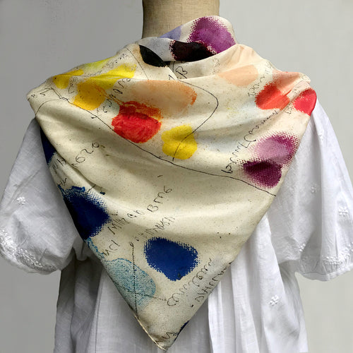 Mixed Tones Silk Scarf