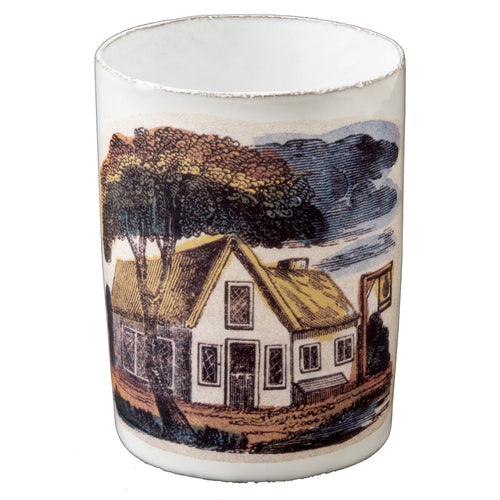 Vase with House Under Tree
