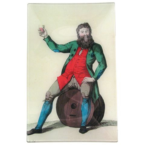 Merry Man Toasting On Barrel