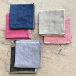 Solid Yoshii Washcloth available in Navy, Light Blue, Pink, Light Pink, gray and light gray