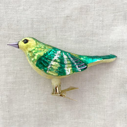 Yellow & Green Bird Clip-On Ornament