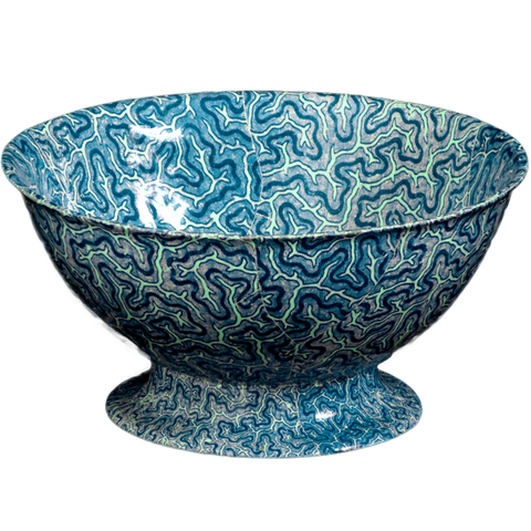 Blue Coral Salad Bowl