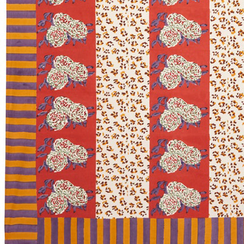 Lisa Corti Panel in Leopard Stripes Rust 180 x 270cm