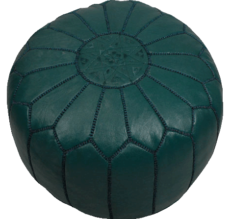 Moroccan Poufs - Dark Green