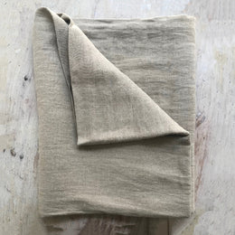 Linen Tablecloth in Gypse