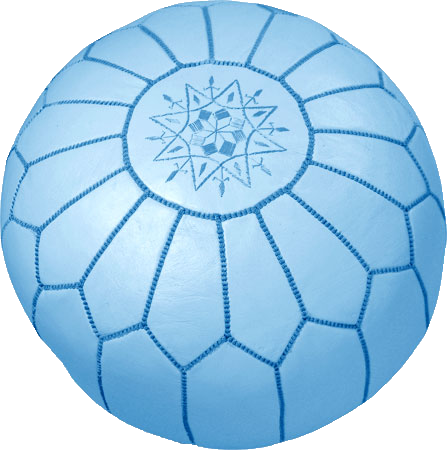 Moroccan Poufs - Light Blue