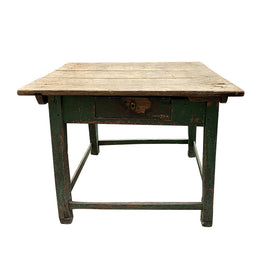 Antique Painted Table with Drawer
