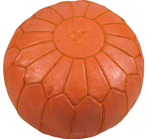 Moroccan Poufs - Orange