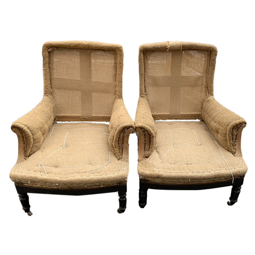 Pair of 19th Century French Unupholstered Chairs
