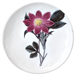 Purple Dahlia Flower Dinner Plate