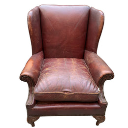 Mid-20th Century Belgian Wingback Chair