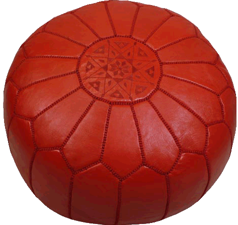 Moroccan Poufs - Red