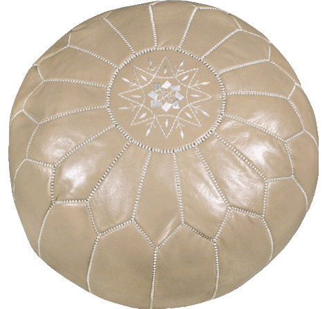 Moroccan Poufs - Taupe