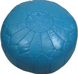 Moroccan Poufs - Turquoise