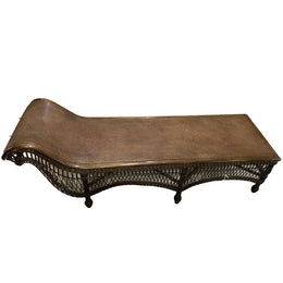 Antique Wicker Chaise