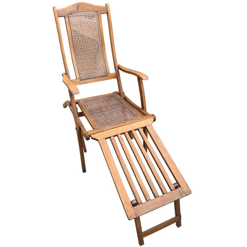 Antique Caned Deck Chair
