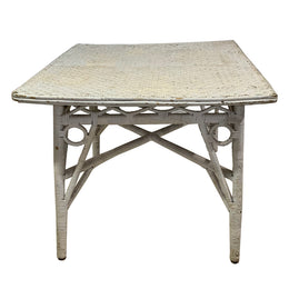 Antique Painted Wicker Table