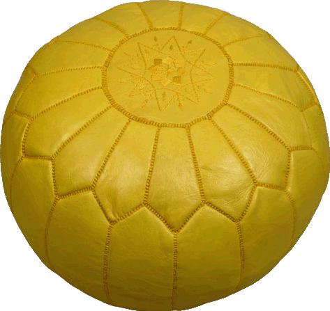 Moroccan Poufs - Yellow