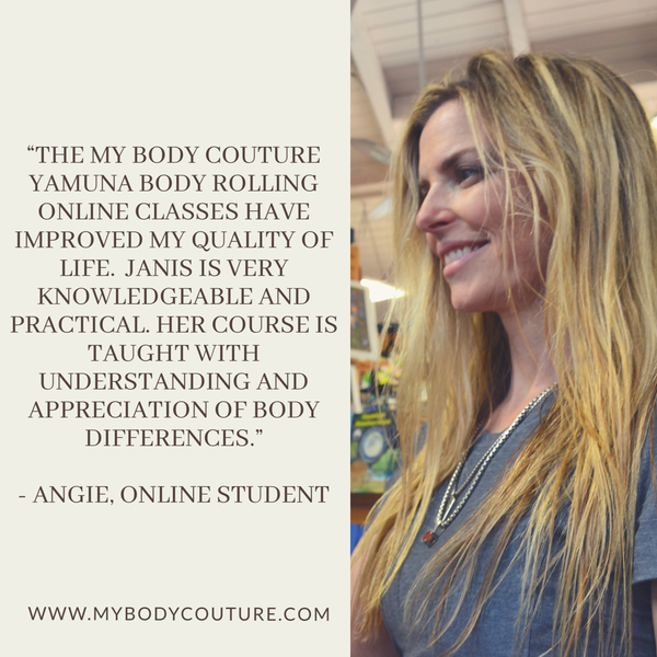 My Body Couture Yamuna Body Rolling One Hour, 16 class/8 week Pre-Recorded Online Program