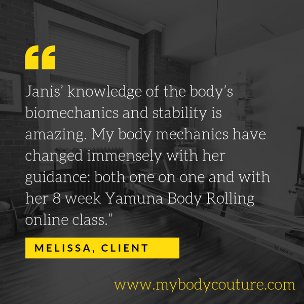 My Body Couture 3x per week Yamuna Body Rolling 1 hour Facebook Live Online Class 4 week class series
