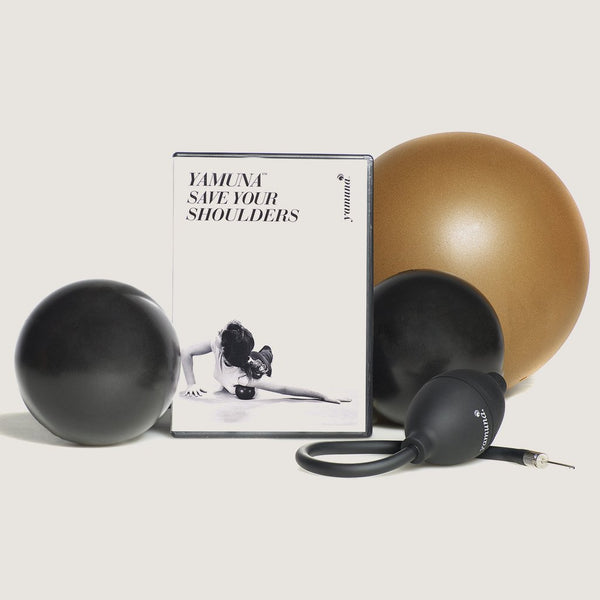 SAVE YOUR SHOULDERS KIT (DVD, PUMP, GOLD, BLACK BALLS)