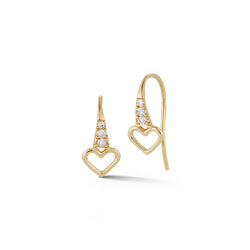 Mini Fishhook Earrings - Hearts