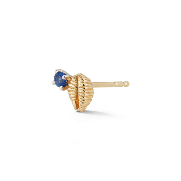 Bitsy Bean Stud with Sapphire - Open