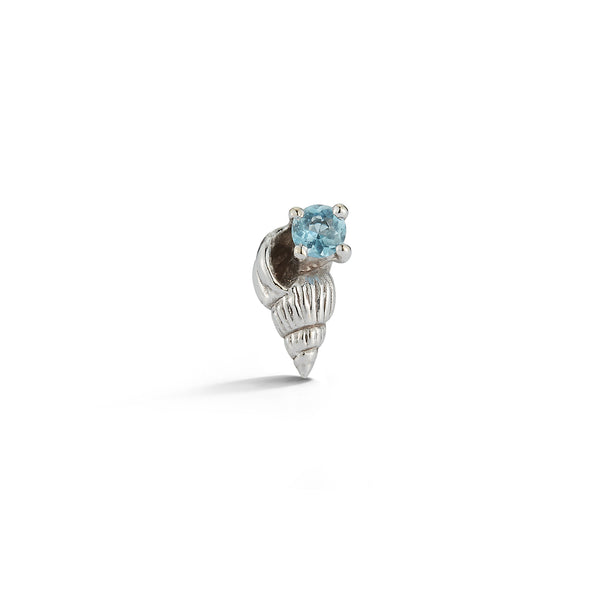 Bitsy Ursula Stud with Aquamarine - Open