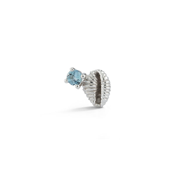 Bitsy Bean Stud with Aquamarine - Open