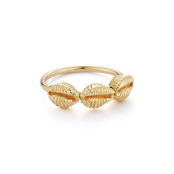 Three Baby Shells Ring