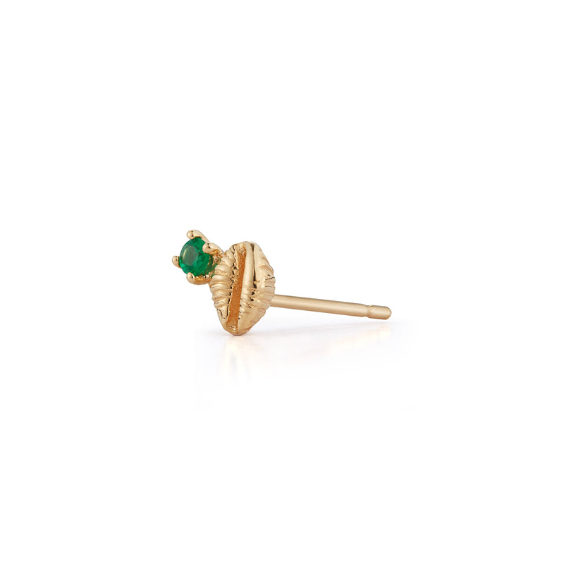 Bitsy Bean Stud with Emerald - Open