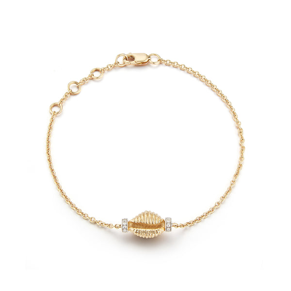Thread and Shell Bracelet - Diamonds