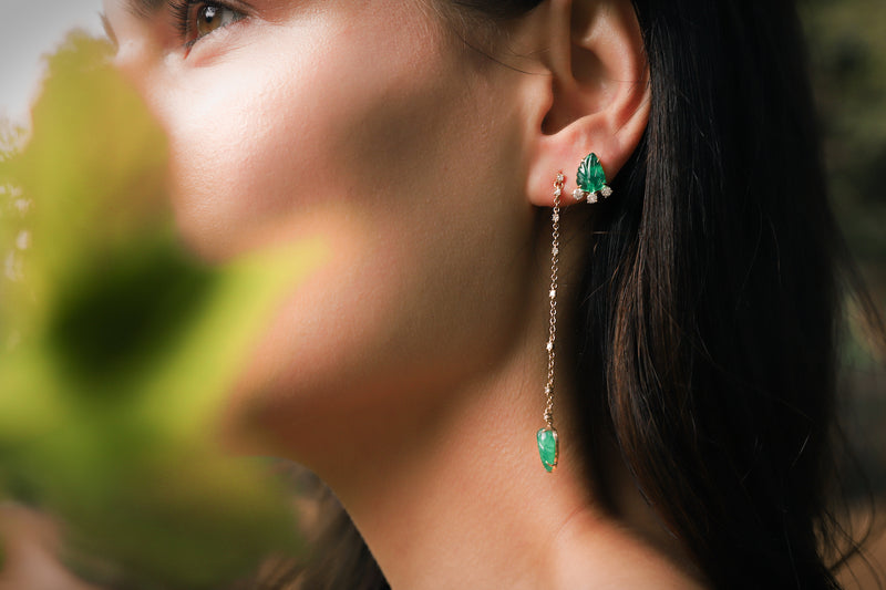 Asymmetrical Hi-Lo Earrings