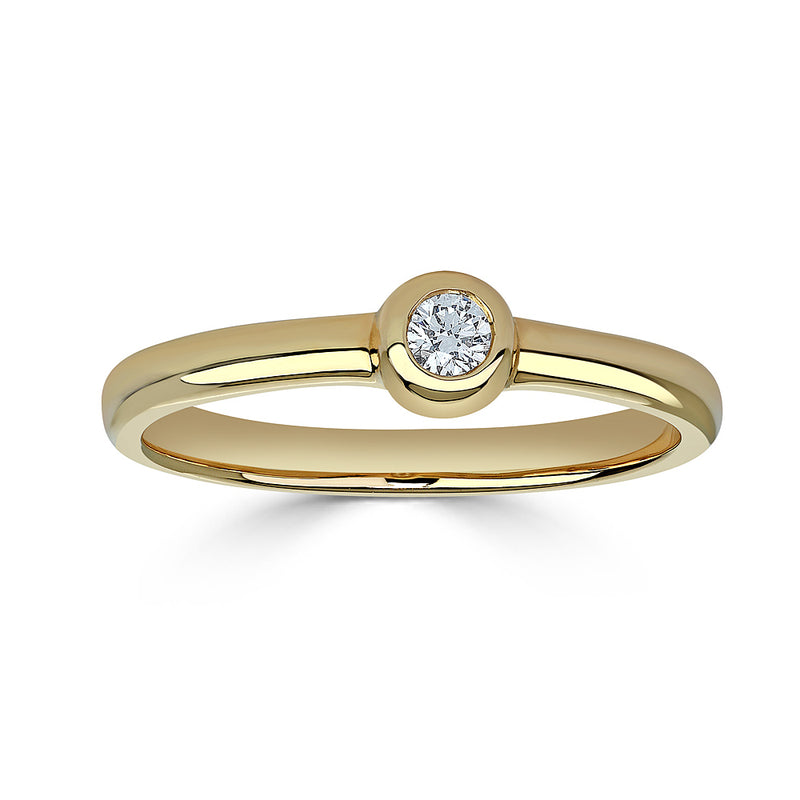 Bookend Diamond Ring