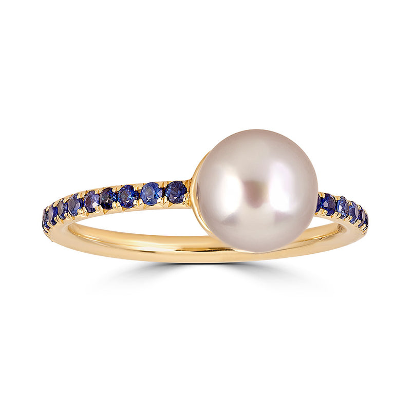 Pearls and Pebbles Sapphire Ring