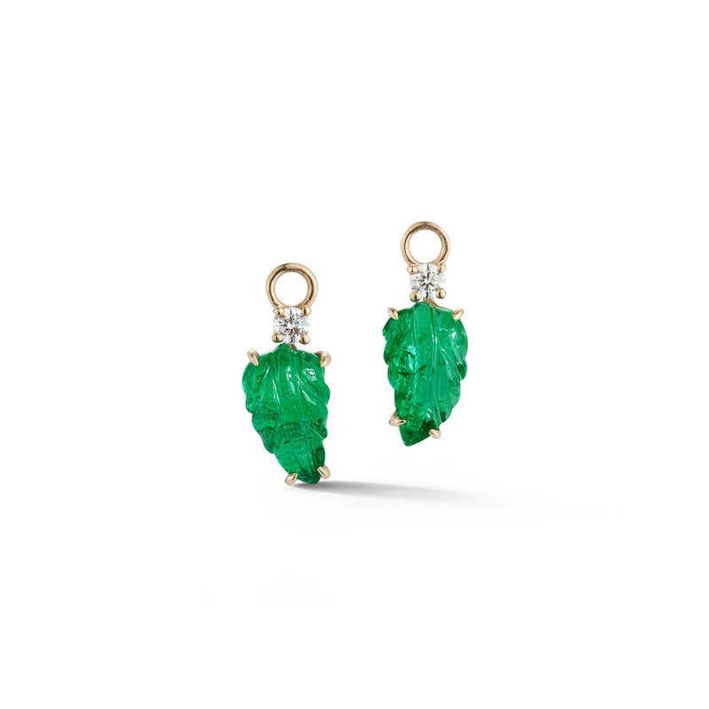 Carved Emerald Charms