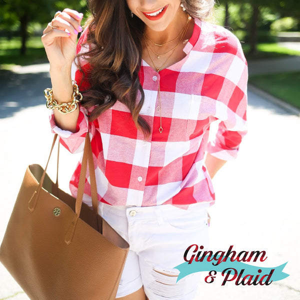 Gingham & Plaid Outfit Ideas For Spring 2017
