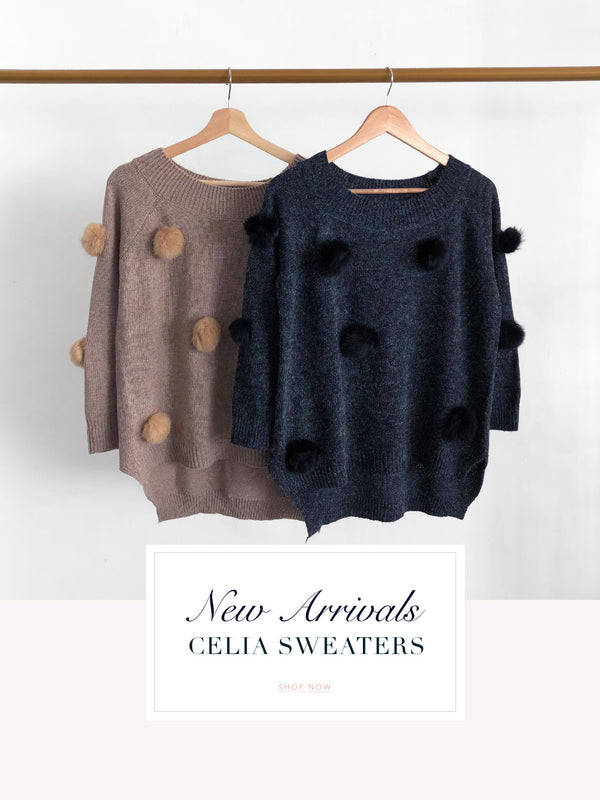 Our Celia Pom Pom Sweater Just In