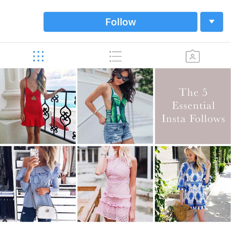 The 5 Essential Insta Follows