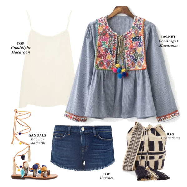 Boho Embroidered Jacket Outfit Inspiraion
