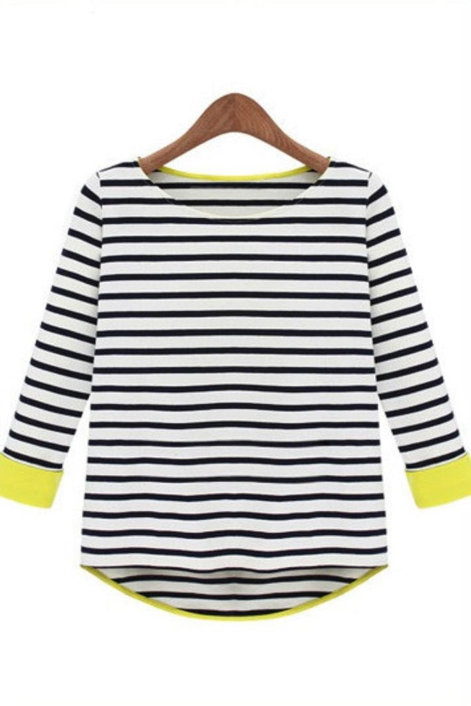 Black Stripe Jersey Top - Goodnight Macaroon