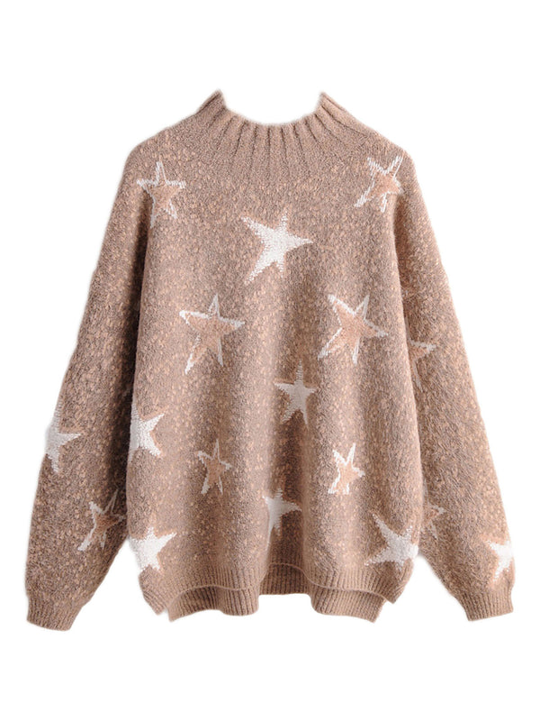 'Elaine' Star Print Crewneck Sweater (2 Colors)