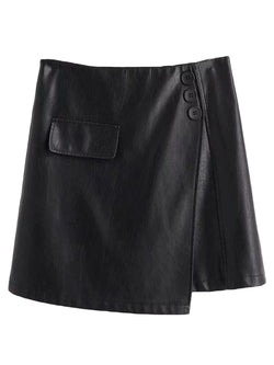 'Keira' Faux Leather Mini Skirt (2 Colors)