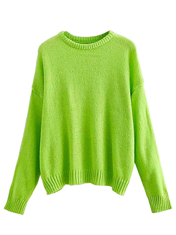 'Camryn' Neon Crewneck Sweater (2 Colors)