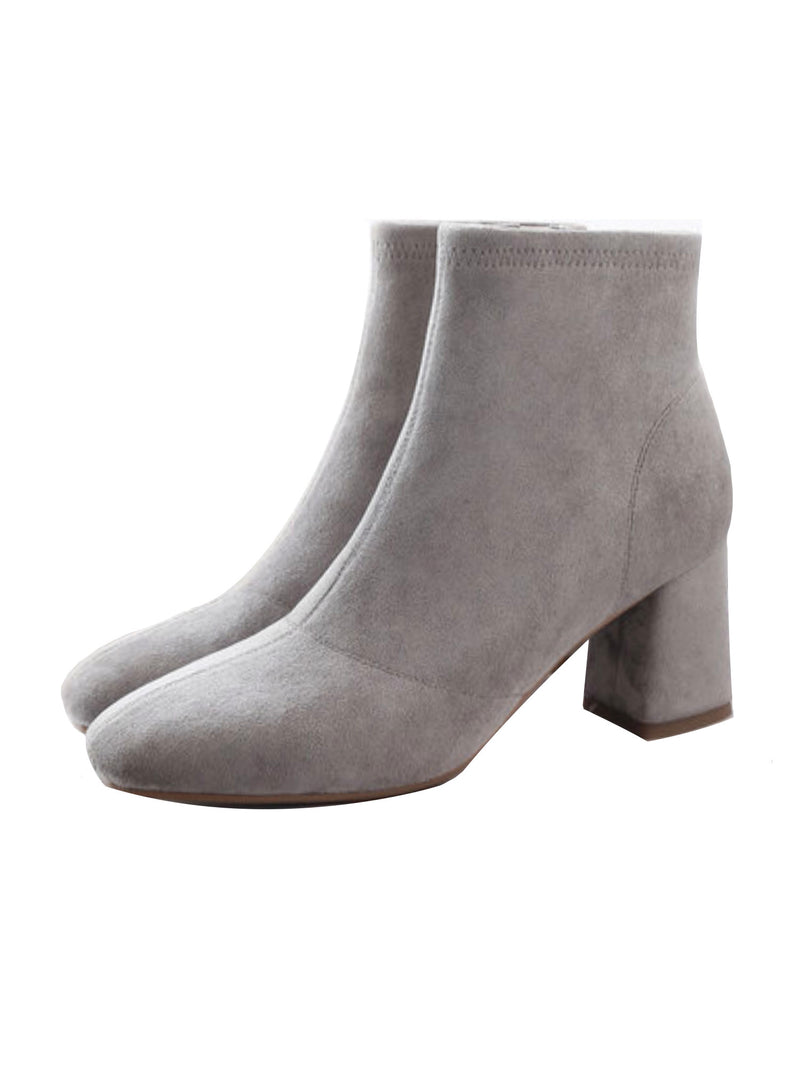 'Collie' Faux Suede Heeled Ankle Boots (3 Colors)