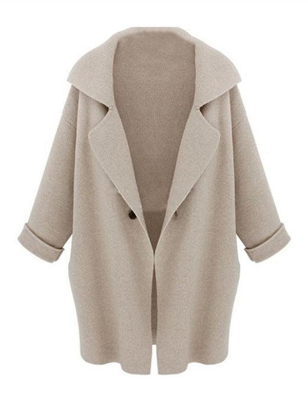 'Jackson' Oversized Collar Long Cardigan (3 Colors)