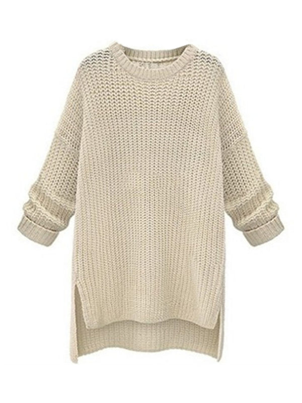 'Julie' Crewneck Knitted Sweater Dress (4 Colors)